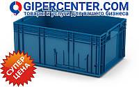 Пластиковый ящик RL-KLT 6280 с гладким дном (594х396х280 мм) голубой