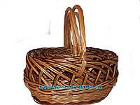 Комплект пасхальных ажурных плетеных корзин из лозы