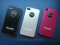 Чехлы для iPhone 4 4S AUDI металлические, фото 1