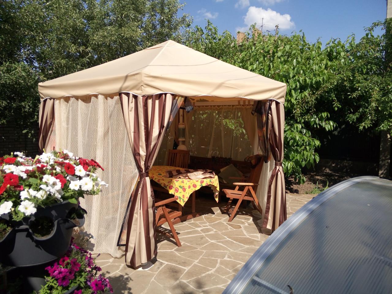 Тент для беседки (палатки) бежевый  3х3  под заказ за 1 день.