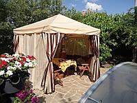 Тент для беседки (палатки) бежевый  3х3  под заказ за 1 день., фото 1