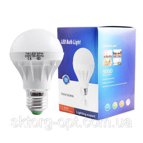 Светодиодная LED лампа 7W E27 220V