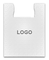 Полиэтиленовый пакет белый 36х57 с логотипом