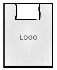 Полиэтиленовый пакет белый 36х57 с логотипом, фото 2