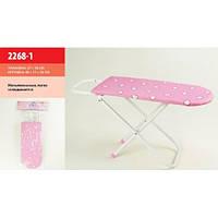 Детская гладильная доска металлические ножки, в пакете, 2268-1