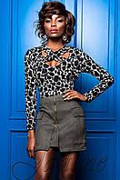 Стильная женская блуза  Бриз комбинированный Jadone 42-50 размеры