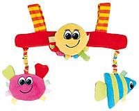 Игрушка мягкая на коляску разноцветный океан (рыба, краб, осьминог), Canpol babies