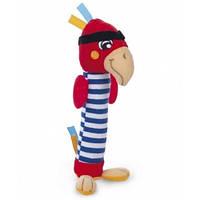 Игрушка мягкая пищалка Попугай - Пират, Canpol babies