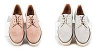 Женские лоферы модная обувь на шнурках серые