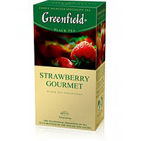 """Чай пакетированный черный Greenfield  """"Starawberry Gourmet""""  25шт Клубника"""