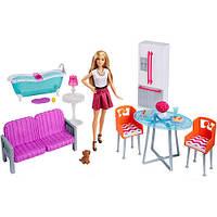 Игровой набор кукла Барби с набором мебели