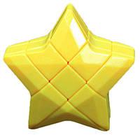 Игрушка-головоломка Звезда Puzzle Star 3×3 желтая, YJ
