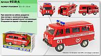 Инерционная машинка Пожарная служба Play Smart 9518A