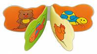 Игрушка-книжка мягкая пищалка Животные, Canpol babies