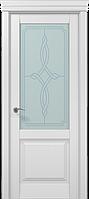 """Двери межкомнатные Папа Карло """"Milenium ML-11 бевелс"""" беылй матовый"""