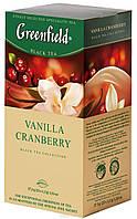 """Чай в пактиках черный Greenfield  """"Vanilla Cranberry"""" 25 шт Клюква"""