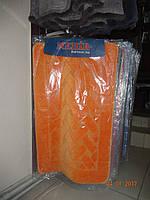 Коврик для ванной и туалета оранжевый