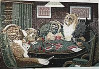 "Картина из мраморной мозаики ""Собаки"""