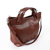 Оранжевая сумка женская-шоппер матовая