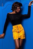 Черная женская блуза  Синтия  Jadone 42-50 размеры