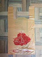 Полиэтиленовый пакет майка Клубника 300*550 мм Альфа