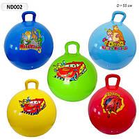 Мяч для фитнеса - гиря, мультгерои 5 видов, 5 цветов ND004