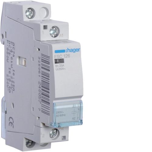 Контактор модульный 25A, 1НЗ, 230В AC Hager ESC126