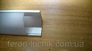 Алюминиевый профиль для светодиодной ленты Feron CAB 280 (угловой круглый) 2м