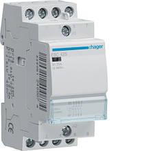 Контактор модульный 25A, 4НО, 230В AC Hager ESC425