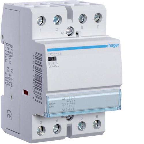 Контактор модульный 40A, 4НЗ, 230В AC Hager ESC441