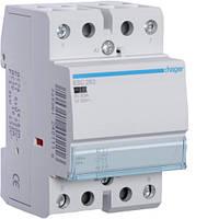 Контактор модульный 63A, 2НО, 230В AC Hager ESC263