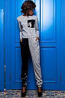 Серый трикотажный костюм Гелиос Jadone  42-50  размеры