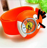 Детские кварцевые наручные часы в образе птички из мультфильма Angry Birds