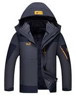 Мужская куртка 3 в 1 JACK WOLFSKIN. Куртки спортивные. Зимние куртки мужские. Водонепроницаемые куртки.