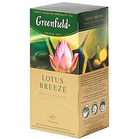 """Чай в пакетиках зеленый Greenfield  """"Lotus Breeze"""" 25шт Лотос"""