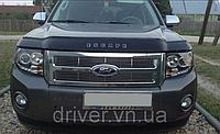 Дефлектор капота (мухобойка) Ford Escape 2000-2012, на крепежах