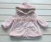 Детская велюровая курточка для девочки  на 6 - 24 месяев