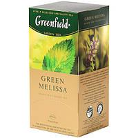 "Чай в пакетиках зеленый Greenfield ""Green Melissa"" 25шт Мелиса"