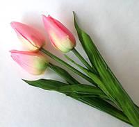 Тюльпаны РОЗОВЫЕ искусственные  3 шт.