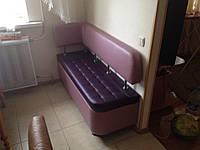 Маленький кухонный диван «Тorino R» с боковой спинкой и утяжкой, фото 1