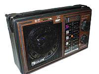 Радиоприемник GOLON RX-306: FM/AM/SW, SD/USB, питание 220В/аккумулятор/ батарейки UM-1, 21х7 см