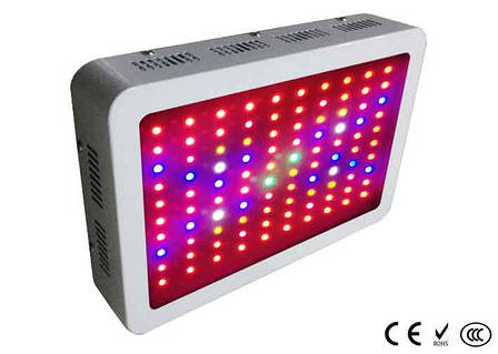 Светодиодный светильник для растений 100*3W mini (фитопанель), 2 кулера, полный спектр, фото 2