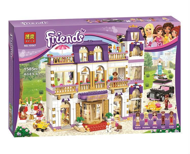 """Конструктор Bela Friends 10547 """"Гранд-отель в Хартлейке"""" (аналог LEGO 41101), 1585 дет"""