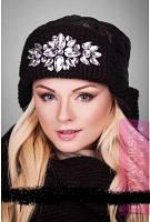 Зимняя женская теплая шапка-ушанка