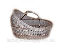 Люлька плетена переносная для детей из лозы, фото 1