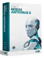 Антивирус Eset NOD32 Antivirus 6 (N-ABE-1Y-2U-B-5) 1год 2ПК Русский / Английский