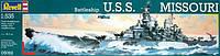 Корабль Battleship USS Missouri (1944г., США), 1:535, Revell