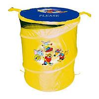 Корзина для игрушек Бочка, желтая, Devik Play Joy