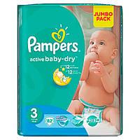 PAMPERS 3 Подгузники Active Baby Midi Джамбо Упаковка 82