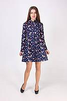 Женская рубашка-туника с цветочным принтом